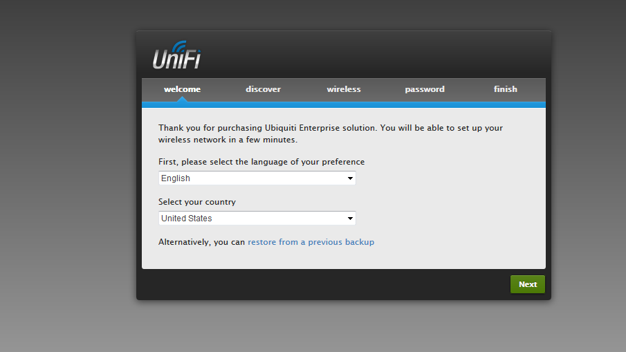 How to install/Enable UniFi Controller from Ubiquiti
