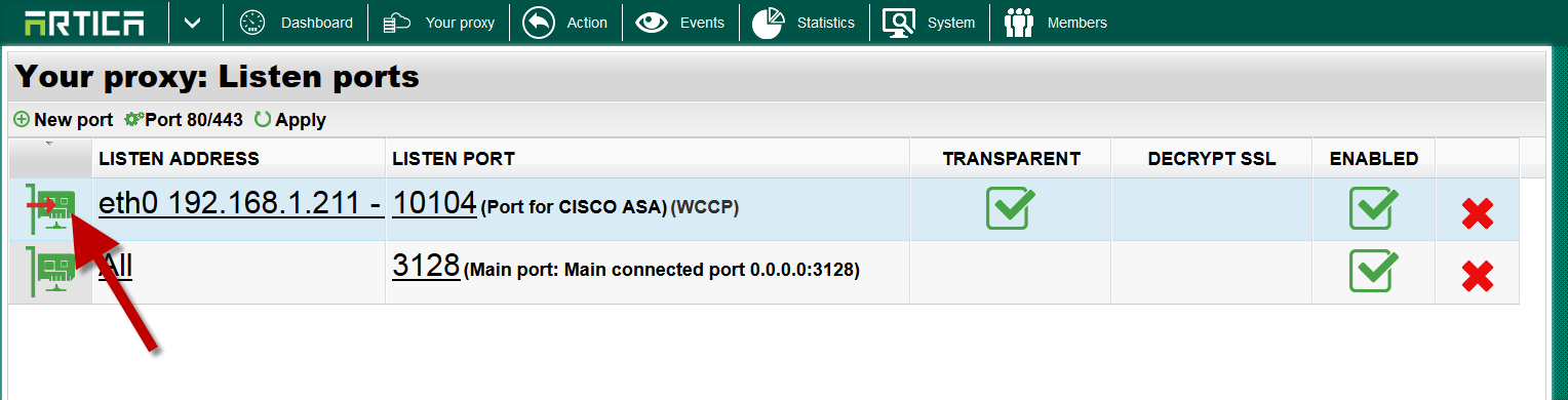 Configuring WCCP interception of HTTP traffic with FortiGate