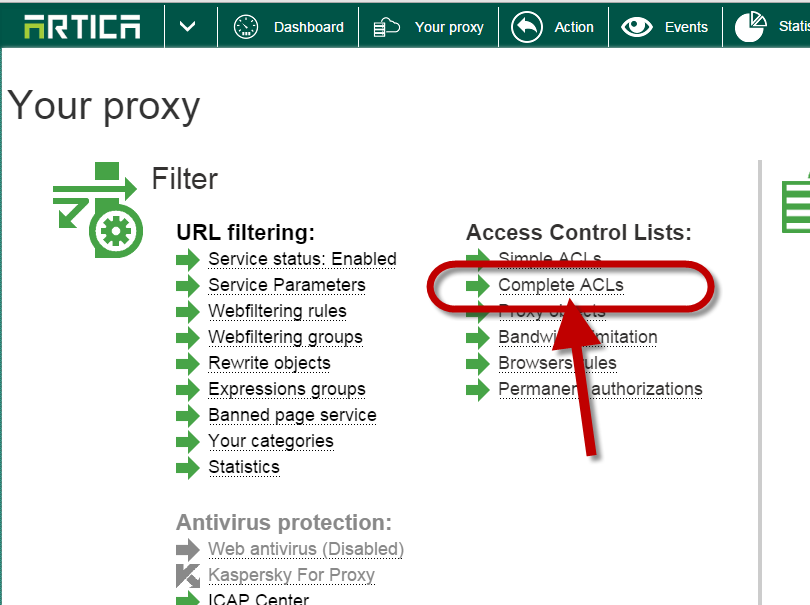 Bypass a computer from authentication method | Artica Proxy