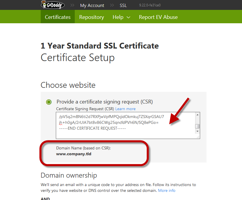 Use a GoDaddy certificate for a Proxy SSL port | Artica Proxy