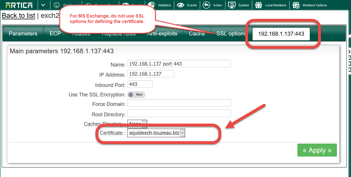 How To Deal With Ssl Certificate With Artica Reverse Proxy And Ms